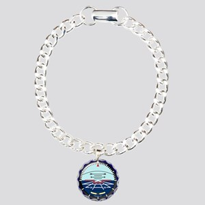 ArtHorizBlue12x12 Charm Bracelet, One Charm