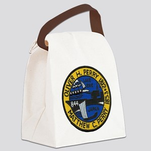 uss perry patch transparent Canvas Lunch Bag