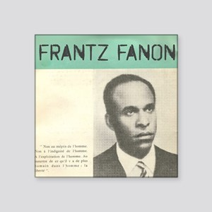 "Frantz Fanon Square Sticker 3"" x 3"""