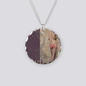 Tender Cheeks Necklace Circle Charm