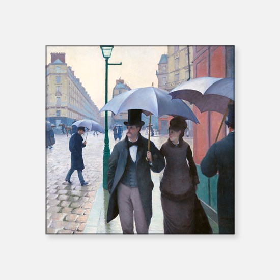 "Caillebotte Square Sticker 3"" x 3"""