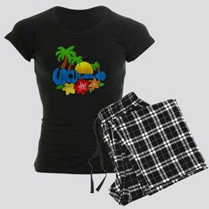 Ukulele Island Logo Women's Dark Pajamas