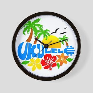 Ukulele Island Logo Wall Clock