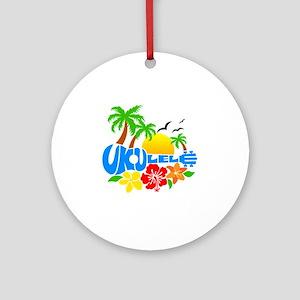 Ukulele Island Logo Round Ornament