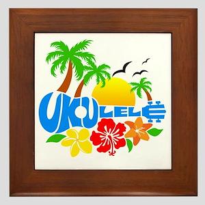 Ukulele Island Logo Framed Tile