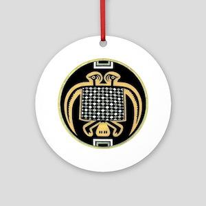MIMBRES PHOENIX BOWL DESIGN Ornament (Round)