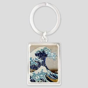 Hokusai Portrait Keychain