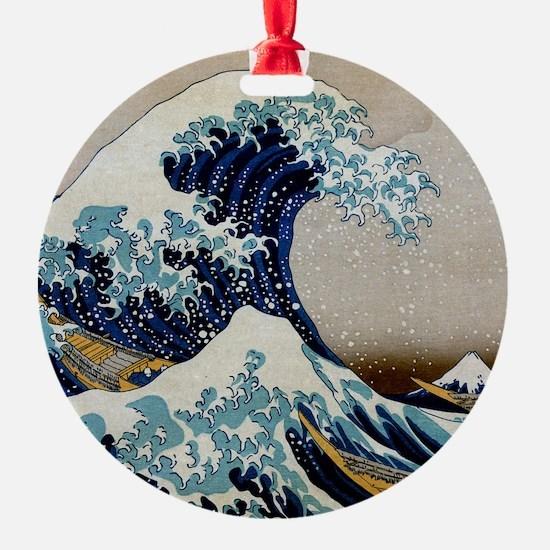 Hokusai Ornament