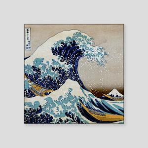 """Hokusai Square Sticker 3"""" x 3"""""""