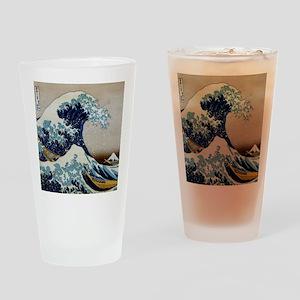 Hokusai Drinking Glass
