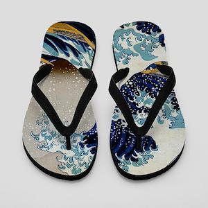 Hokusai Flip Flops