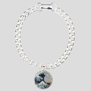 Hokusai Charm Bracelet, One Charm