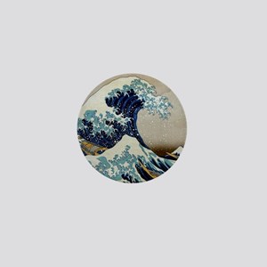 Hokusai Mini Button