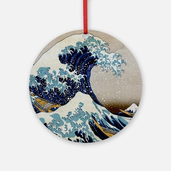 Hokusai Round Ornament