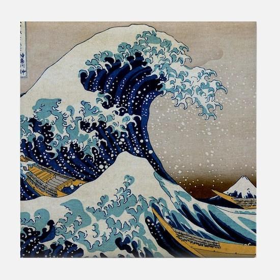 Hokusai Tile Coaster
