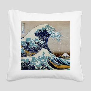 Hokusai Square Canvas Pillow