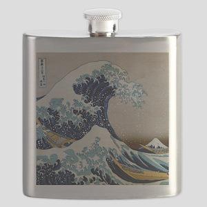 Hokusai Flask
