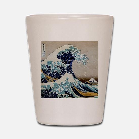 Hokusai Shot Glass