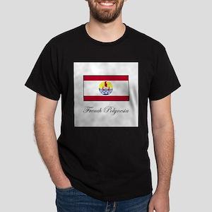 French Polynesia - Flag Dark T-Shirt