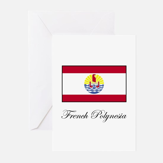French Polynesia - Flag Greeting Cards (Package of