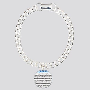Ineptocracy Charm Bracelet, One Charm