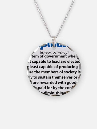 Ineptocracy Necklace Circle Charm