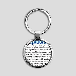 Ineptocracy Round Keychain