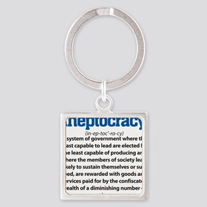 Ineptocracy Square Keychain