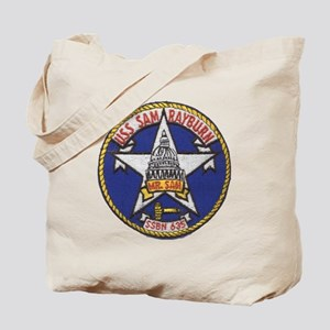uss sam rayburn patch transparent Tote Bag
