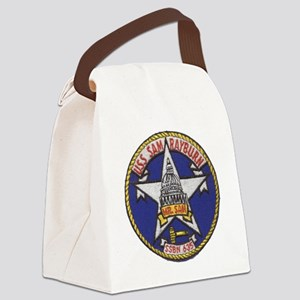 uss sam rayburn patch transparent Canvas Lunch Bag