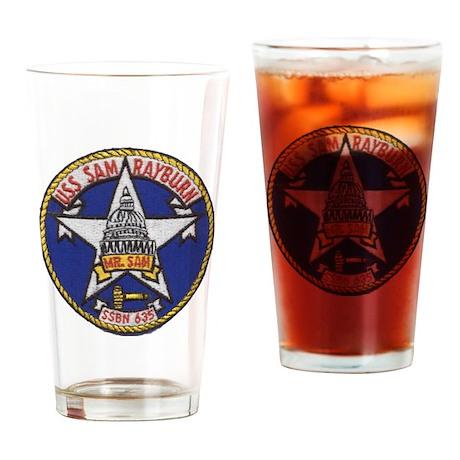 uss sam rayburn patch transparent Drinking Glass