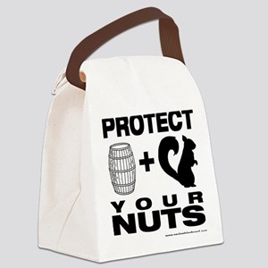 Protect Your Nuts Canvas Lunch Bag