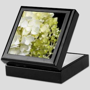 White Hydrangea Floral Art Keepsake Box