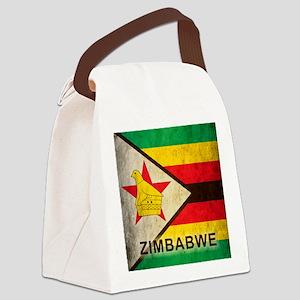 Vintage Zimbabwe Canvas Lunch Bag