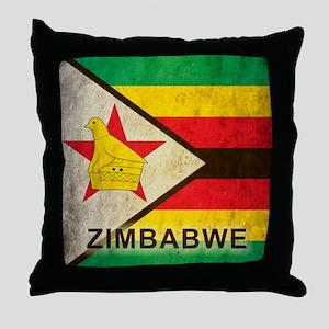 Vintage Zimbabwe Throw Pillow