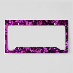 star_background License Plate Holder