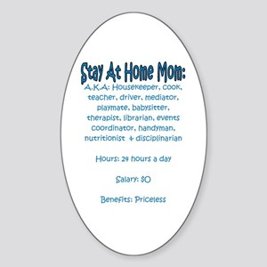 Stay At Home Mom (JD) Oval Sticker