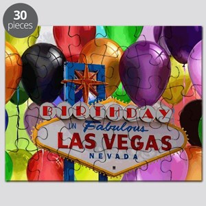 Birthday In Las Vegas Balloon Puzzle