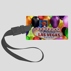 Birthday In Las Vegas Balloon Large Luggage Tag
