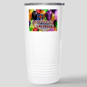 Birthday In Las Vegas Balloon Stainless Steel Trav