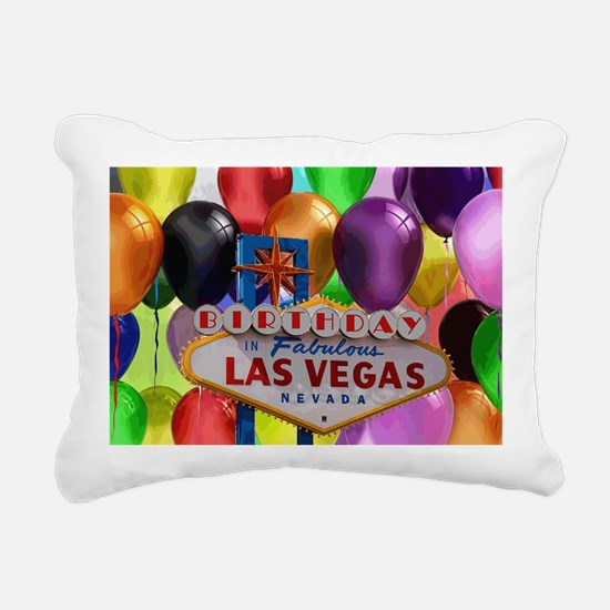 Birthday In Las Vegas Ba Rectangular Canvas Pillow