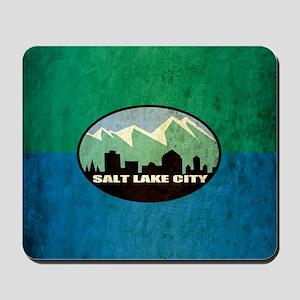 Vintage Salt Lake City Flag Mousepad