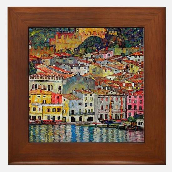 Klimt Framed Tile
