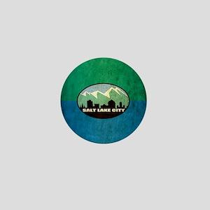 Vintage Salt Lake City Flag Mini Button