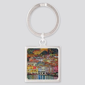 Klimt Square Keychain