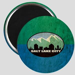 Vintage Salt Lake City Flag Magnet