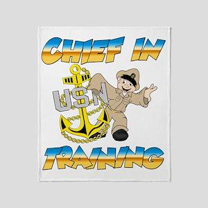 Navy Chief in Training little boy Throw Blanket