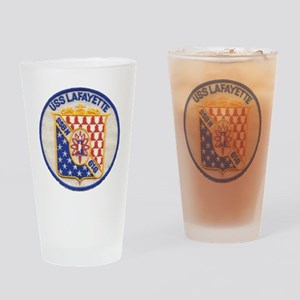 uss lafayette patch transparent Drinking Glass