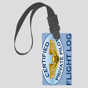 WingsOvalJournal Large Luggage Tag