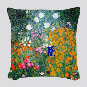Klimt Woven Throw Pillow